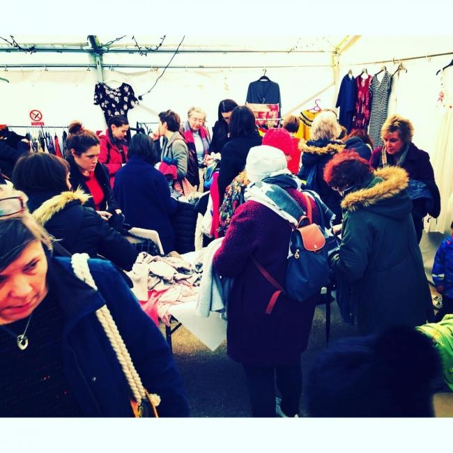 Shoppers swap at the Witney Community Clothes Exchange