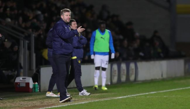 Karl Robinson on the touchline for Oxford United   Picture: Richard Parkes