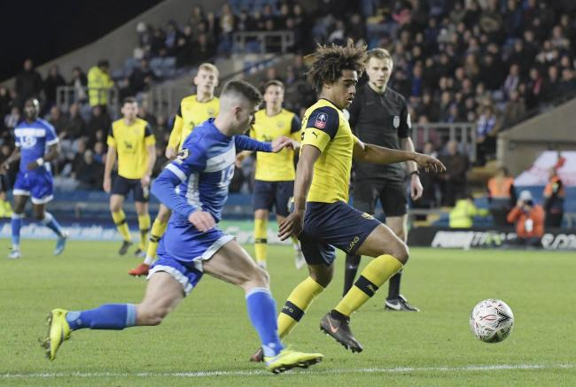 Fabio Lopes in action during his most recent Oxford United appearance, against Hartlepool United last month  Picture: David Fleming