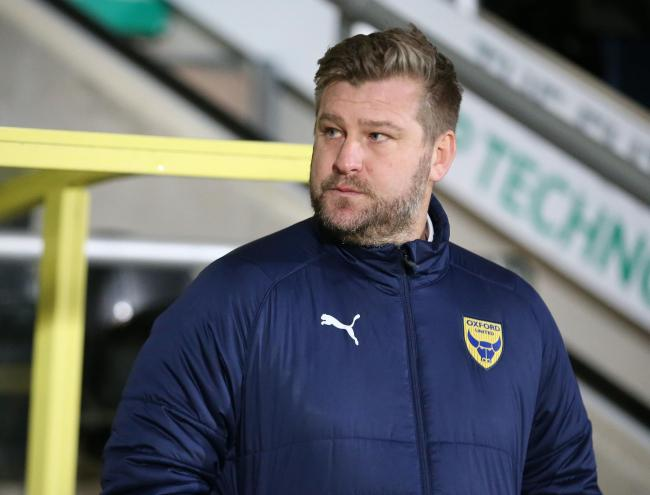 Oxford United head coach Karl Robinson is missing several key players for tomorrow's game with Sunderland          Picture: Richard Parkes