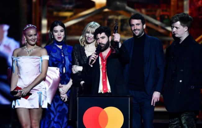 Foals win Best British group award at the Brits 2020. Picture: Getty