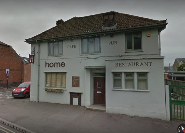 Home pub, restaurant and cafe on Abingdon Road closed on Sunday.