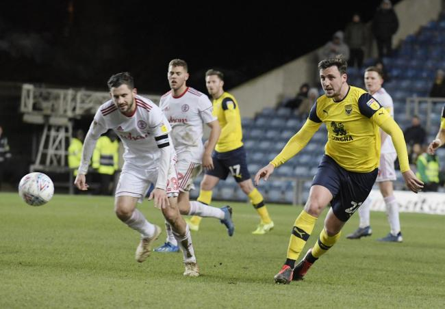 George Thorne's last appearance for Oxford United came against Accrington Stanley in February  Picture: David Fleming