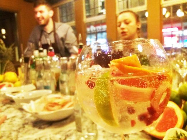A fruity gin and tonic bar at the new Red Lion pub in Oxford. Picture: Pete Hughes