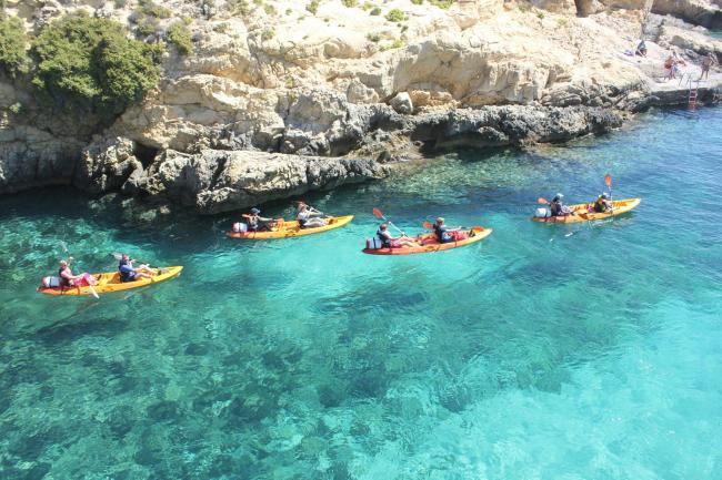 Sea kayaking from Gozo to Comino isn't only a great workout, it's a chance to view crystal clear waters and explore the island's caves