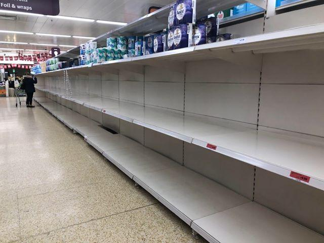 Image result for coronavirus empty shelves