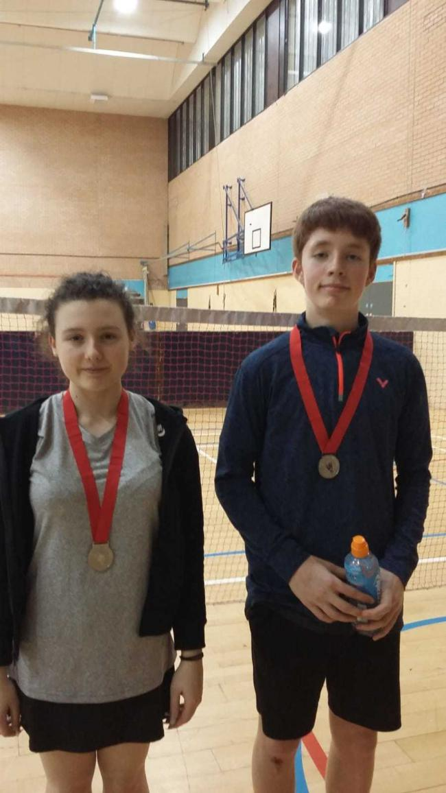 Jess Street and Anthony Peverell won mixed doubles silver at the Devon Under 17 event Picture: Rob Wakefield