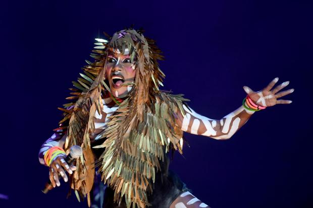 Grace Jones performs on stage at Bestival, Dorset, UK .Picture: Finnbarr Webster Photography.