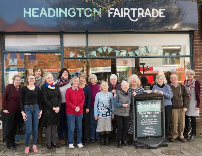 Headington Fairtrade shop volunteers and committee outside the London Road store. Picture: Headington Fairtrade