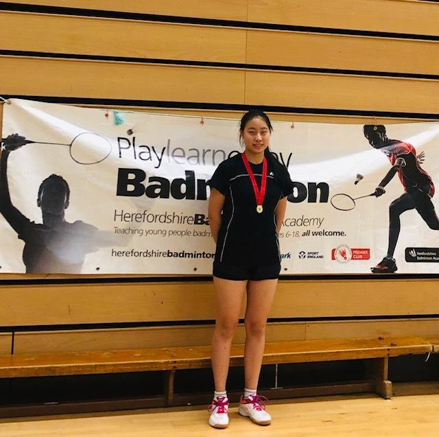 Rachel Wang won gold at the Hertfordshire Under 15 event Picture: Rob Wakefield