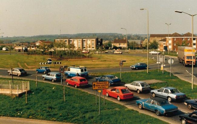 The Green Road roundabout in 1987