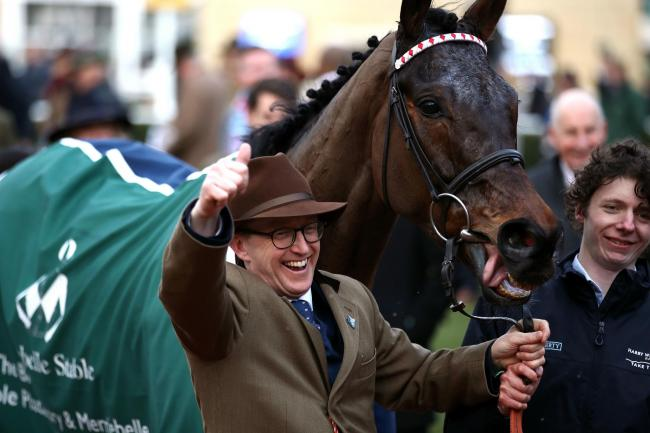 Trainer Harry Whittington celebrates after Simply The Betts won the Brown Advisory & Merriebelle Stable Plate Handicap Chase at Cheltenham earlier this month 	 Picture: Tim Goode/PA Wire