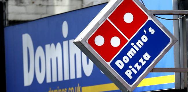 A Domino's branch. Picture: Tim Goode/PA Wire
