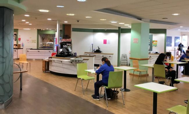 John Radcliffe Hospital canteen. Picture: OUH