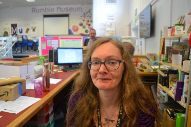 Lorna Robinson, director of The Rumble Museum at Cheney School and founder of the Iris Project