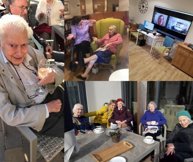Collection of pictures of the residents from activities at Fairfield residential home in Summertown