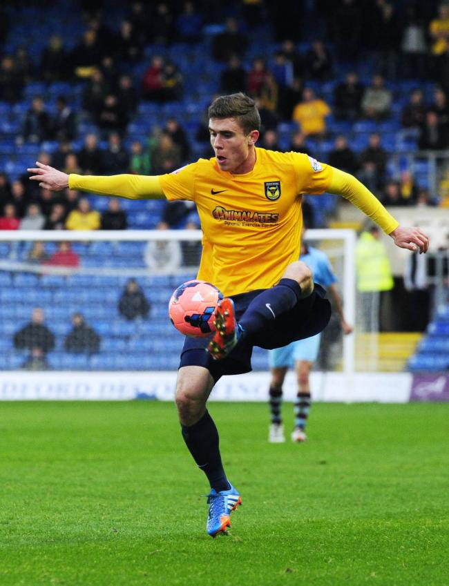 Josh Ruffels in action during his first season at Oxford United, in 2013/14   Pictures: David Fleming