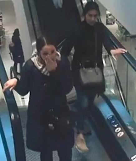 CCTV image of women who may help with investigation into stolen Macbook from John Lewis