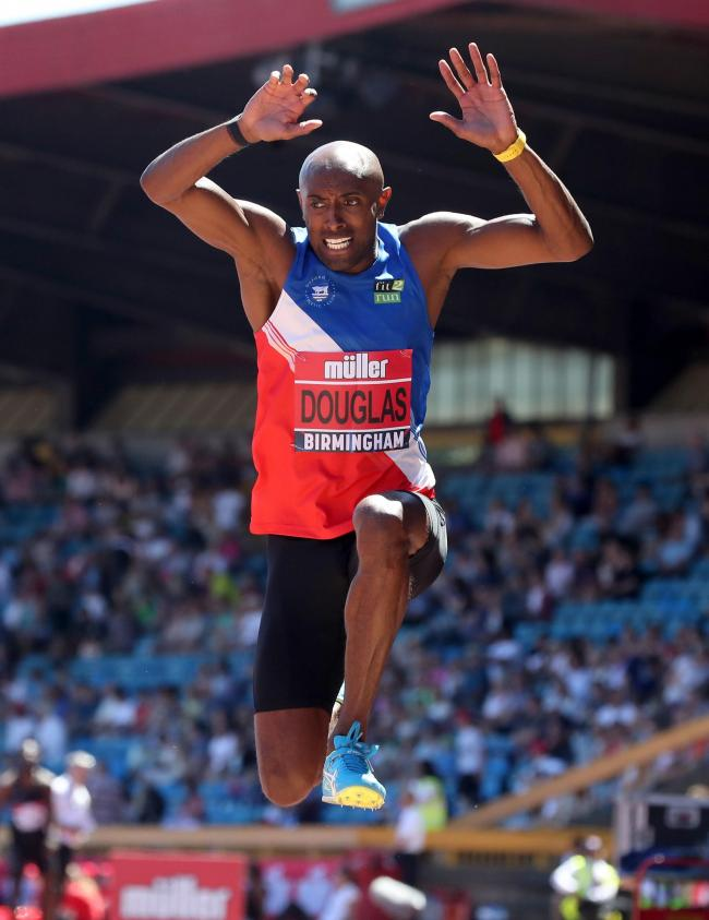 Nathan Douglas competing at the British Championships in 2018. The triple jumper is still hoping the event will stay on the calendar this year      Picture: Martin Rickett/PA Wire