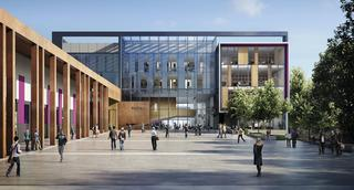An artist's impression of the new buildings