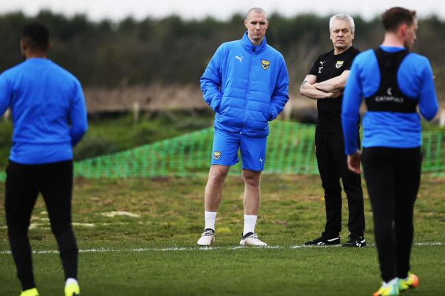 James Constable watches Oxford United train last season Picture: Ed Nix