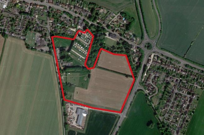 The Newnham Manor site in Crowmarsh Gifford where Avant Homes wants to build 100 new houses. Picture: Google Maps