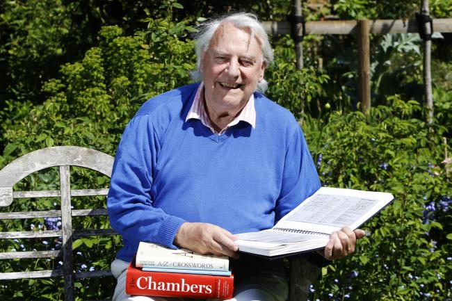 Veteran crossword maker Jonathan Crowther from north Oxford. Picture by Ed Nix