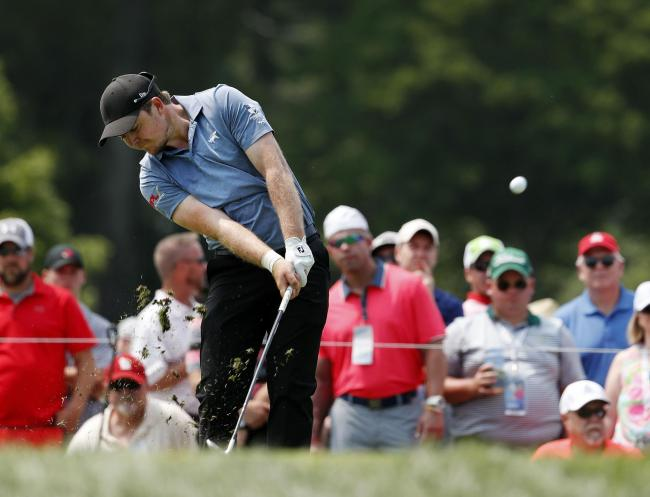 Eddie Pepperell in action at the US PGA Championship in 2018     Picture: AP Photo/Jeff Roberson