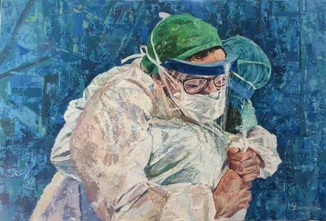 : Cowley artist Emma Waddleton auctioning her painting for NHS