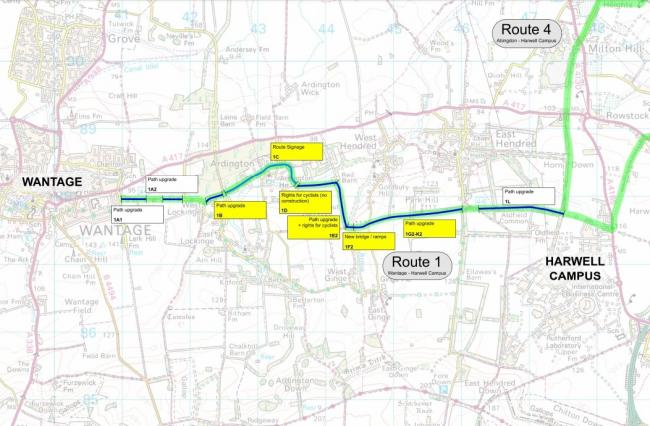 A new cycle route between Wantage and Harwell as part of the Science Vale Cycling Network. Picture: Oxfordshire County Council