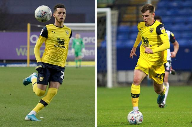 West Ham's Nathan Holland (left) and Liverpool's Ben Woodburn have shown moments of quality on loan at Oxford United this season  Pictures: David Fleming and Richard Parkes