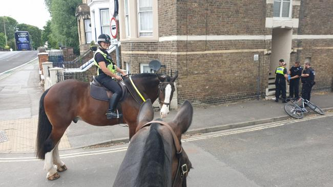 Police chase bike thief on horses - and catch him!
