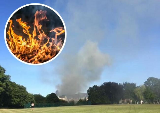 Fire breaks out in Oxfordshire village