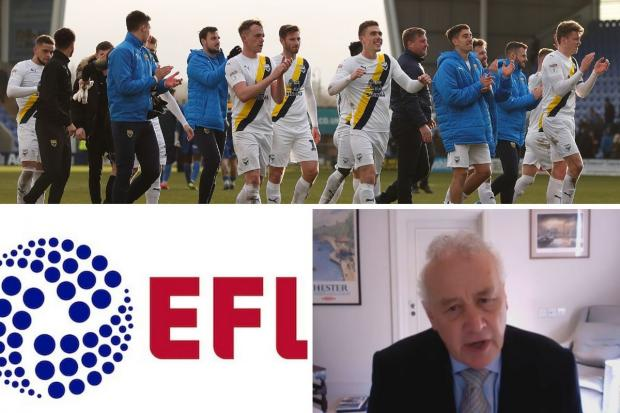 EFL Board meeting today to discuss clubs' suggestions on how to finish season