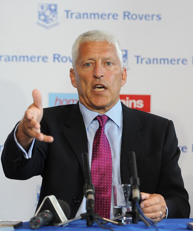 Tranmere Rovers chairman Mark Palios Picture: Martin Rickett/PA Wire