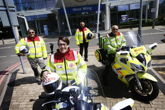 SERV Blood Bikes, which delivers blood across Oxford and Oxfordshire, has been awarded the Queen's Award for Voluntary Service. Picture: Ed Nix
