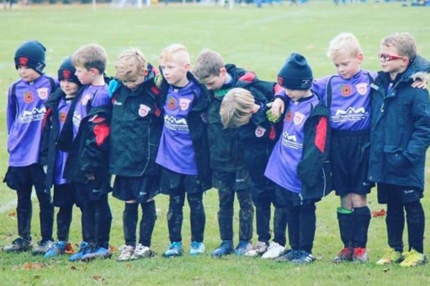 Didcot Town's under sevens, pictured before lockdown, exceeded all expectations in a charity challenge