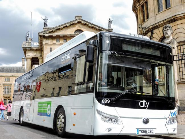 File photo of an electric bus being trialled in Oxford city centre.
