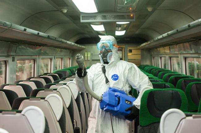 Great Western Railway and South Western Railway trains are to be treated with a spray that kills 99.99 per cent of viruses and bacteria. Picture: GWR