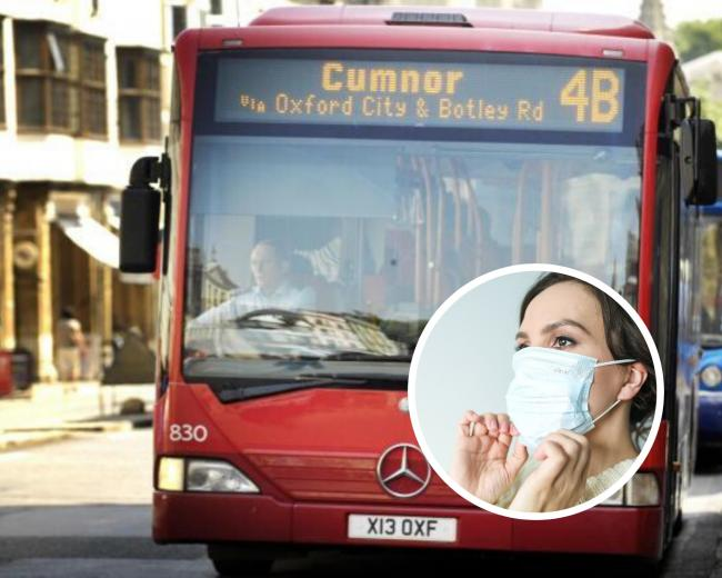 Facemasks are now required on public transport.