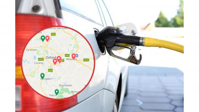 Cheapest petrol prices this week in Oxfordshire