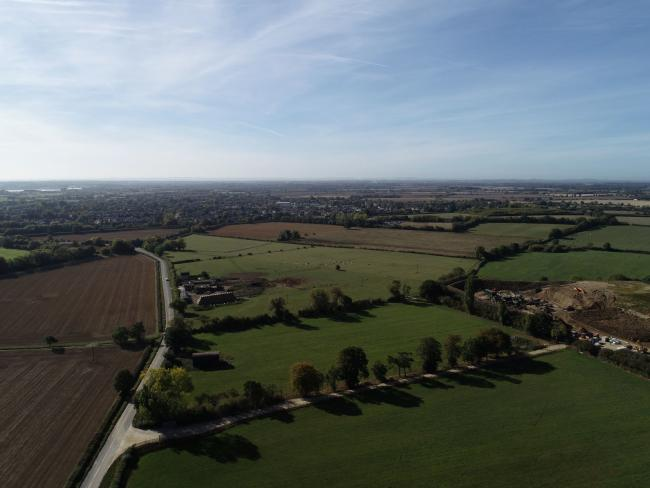 File image of an aerial view of the garden village site in West Oxfordshire. Picture: WODC