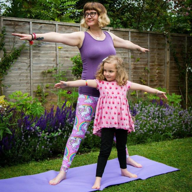 Yoga teacher offers free classes to children on NSPCC Childhood Day.