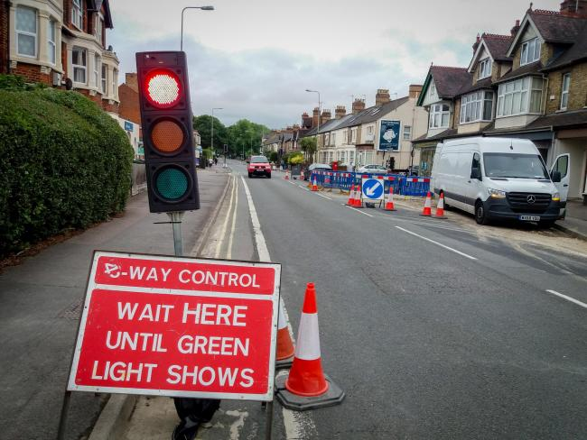 Roadworks cause delays in Oxford
