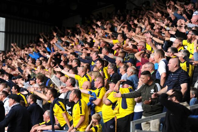 Hundreds of Oxford United fans have bought cut-outs for the play-off semi-final second leg against Portsmouth Picture: Jon Lewis