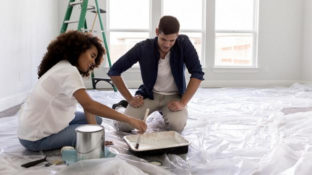 Oxford Mail: Prepping your workspace with a drop cloth or plastic covering is a key part of the process. Credit: Getty Images / SDI Productions