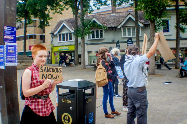 Oxford protesters on Saturday. Picture: John Walker