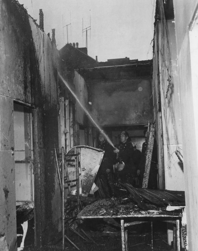 Cowley Road Hospital fire in April, 1964