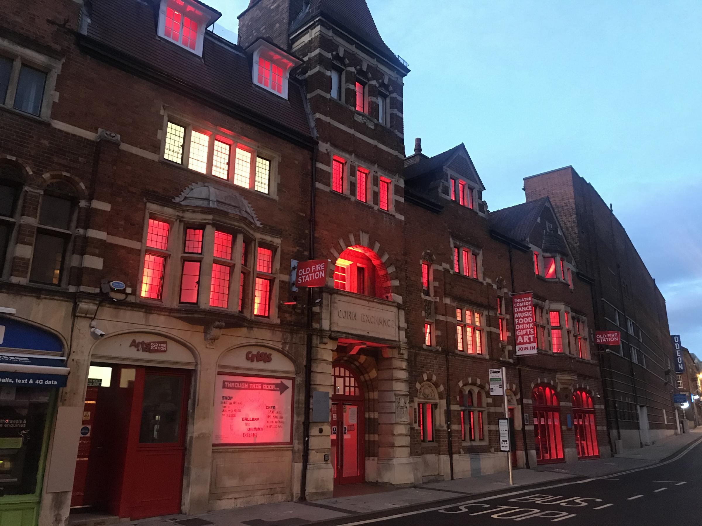 Oxfordshire theatres, such as the Old Fire Station, lit up their buildings with red light last July to highlight the financial emergency in the sector. Many will do the same tonight
