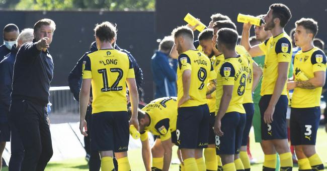 Karl Robinson and his Oxford United players have agreed not to go to the national stadium until they face WycombePicture: David Fleming